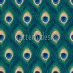 Thousand And One Peacock Feathers Seamless Vector Pattern Design