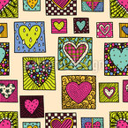 爱之墙 无缝矢量模式设计