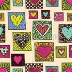 Wand der Liebe Nahtloses Vektormuster
