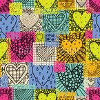 Parches de amor Estampado Vectorial Sin Costura