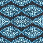 Paisley Mode Streifen Rapportiertes Design