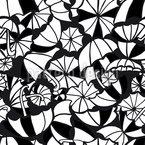 Guarda-chuvas Girando Design de padrão vetorial sem costura