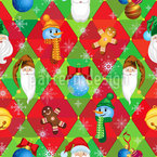 Christmas Characters Seamless Vector Pattern Design