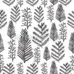 Verschneiter Weihnachtswald Vektor Ornament