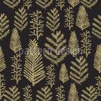 Goldener Weihnachtswald Nahtloses Muster