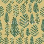 Grüner Weihnachtswald Nahtloses Vektor Muster