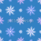 Space Flowers Seamless Vector Pattern Design