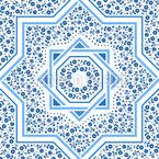 Arabesque Roses Seamless Vector Pattern Design