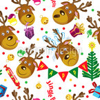 Weihnachts-Hirsch Nahtloses Vektormuster