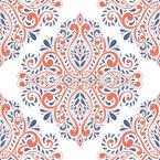 アンティーク・フローラ シームレスなベクトルパターン設計