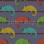 Upset Chameleons Seamless Vector Pattern Design