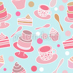 Cake party Seamless Vector Pattern Design
