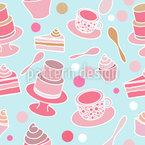 Kuchen Party Nahtloses Vektormuster