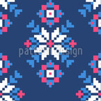 Romanian Folklore Seamless Vector Pattern Design