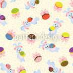 Bunny Day Seamless Vector Pattern Design