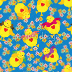 Dancing Chick Repeating Pattern