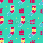 Socks and Gift boxes Pattern Design