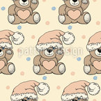 Christmas Teddy Seamless Pattern