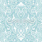 Ice Damask Seamless Vector Pattern Design