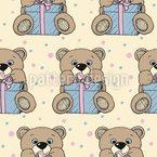 Geschenke Teddy Nahtloses Vektormuster