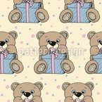 Present Teddy Seamless Vector Pattern Design