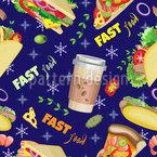 Schnellgerichte Nahtloses Muster