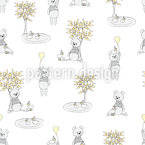 Sweet Ducks And Bears Seamless Vector Pattern