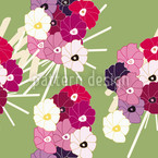 Flowers From Japan Seamless Vector Pattern Design