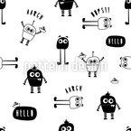Kleine Roboter-Monster Rapportiertes Design