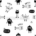 Little Robot Monster Repeating Pattern