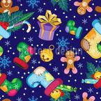 Weihnachtssocken mit Geschenken Rapportmuster