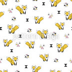 Fox Origami Seamless Vector Pattern Design