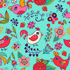 Paradise garden Seamless Vector Pattern Design