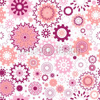Multicolored snowflakes Seamless Vector Pattern Design