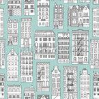 Häuser Formen Nahtloses Vektormuster