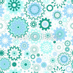 Multicolored gears Seamless Vector Pattern Design