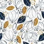Artistic Magnolia Vector Design