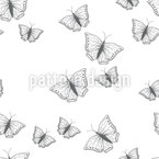Lovely Butterfly Silhouettes Pattern Design
