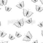 Schöne Schmetterling Silhouetten Muster Design