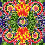 Kunstvolles Afrikanisches Mandala Muster Design