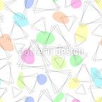 Dreieckige Abstraktion Vektor Ornament