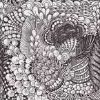 Organic Zentangle Seamless Vector Pattern