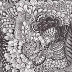 Organischer Zentangle Nahtloses Vektor Muster