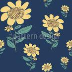 Hand Drawn Sunflower Vector Pattern
