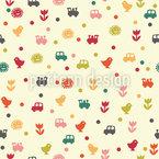 Motivos da parede do bebê Design de padrão vetorial sem costura