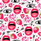 Lovely Lips Seamless Vector Pattern Design