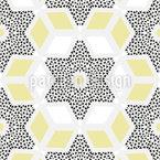 Geometrisches Spiel mit Sternen Nahtloses Vektormuster