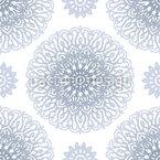 Mandala pontilhada Design de padrão vetorial sem costura