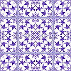 Floral star tile Design Pattern