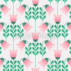 Retro Fanatsie Tulpen Nahtloses Muster